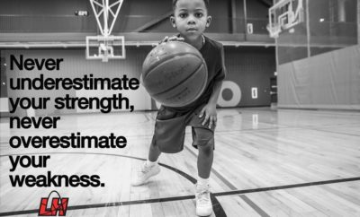 never underestimate your strength,never overestimate your weakness