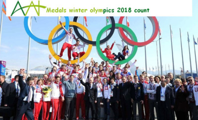 Medals winter olympics 2018 count